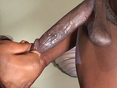 Busty ebony babe gets hard dped and hot cumshot