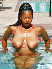 Horny and nude black women in different..