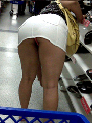 Sexy ebony mom in the supermarket