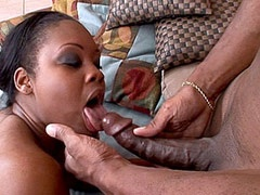 Ebony tute gets hard black dped in wild groupsex
