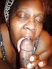 Freaky black mom suck husband's dick