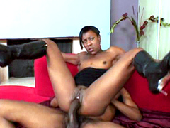 Wild black mom sucks and rides very huge black rod with a big thirst