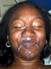 Huge facial cumshot ebony women..