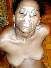 Elder ebony women huge facial cumshot