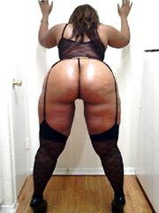 Hot black housewife shows her big black..
