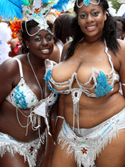Gorgeous and depraved black ladies in..