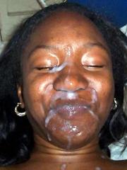 Huge facial cumshot ebony women..