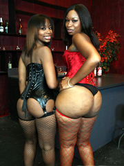 Black babes in stockings Lauren and..